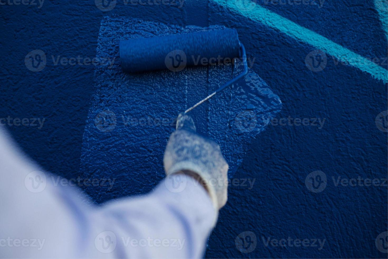 The process of creating graffiti photo
