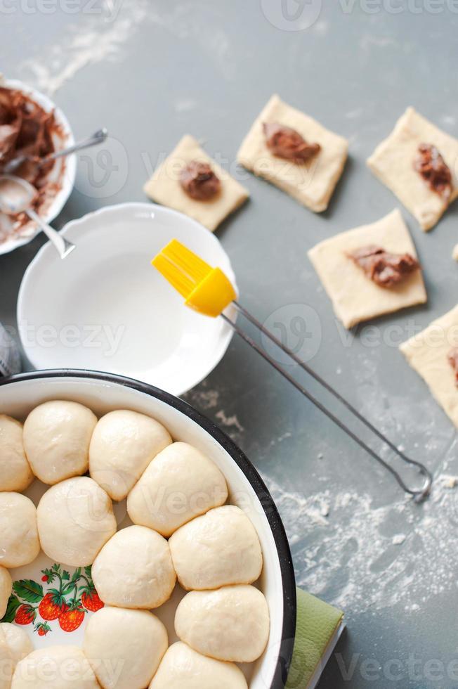 hornear galletas en casa el proceso foto