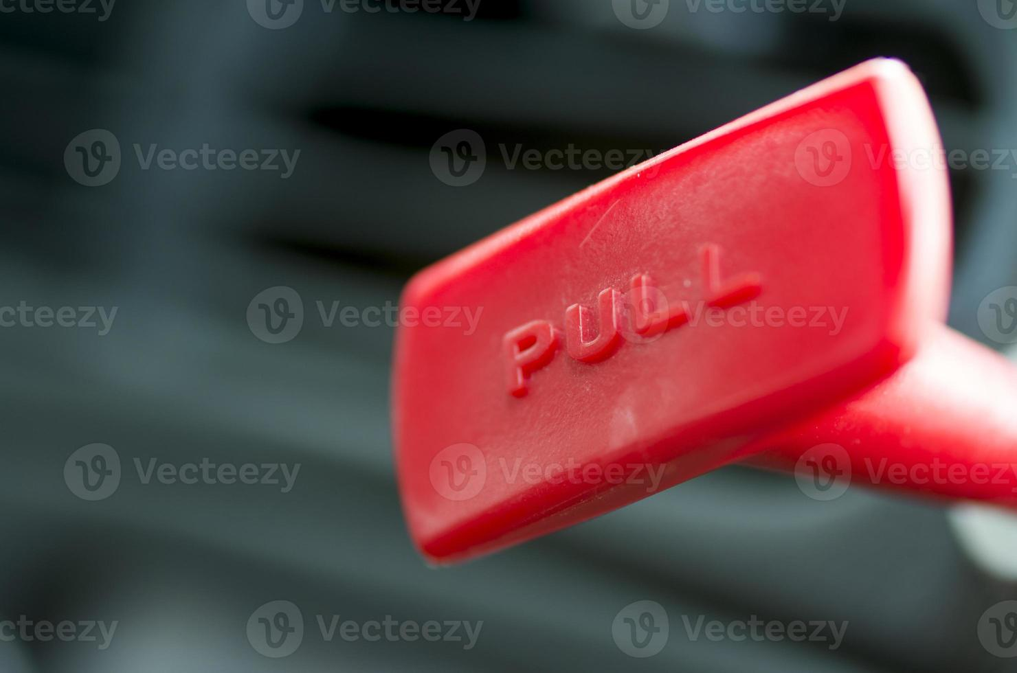 Red pull handle photo