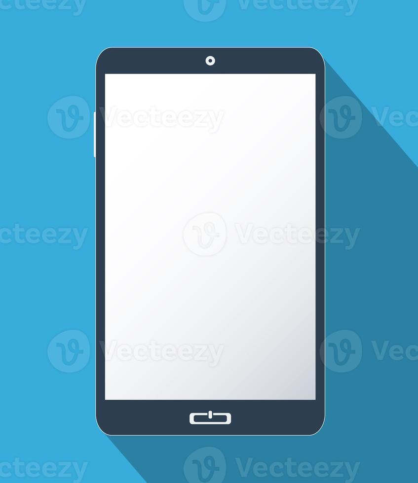 teléfono inteligente con pantalla en blanco foto