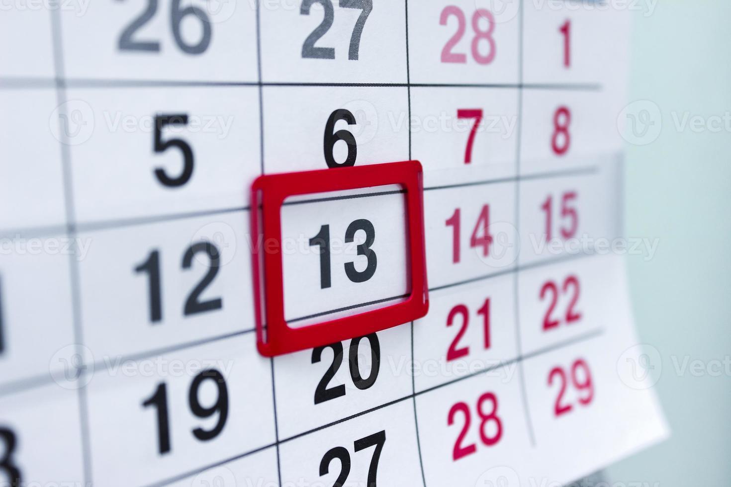 Calendar photo