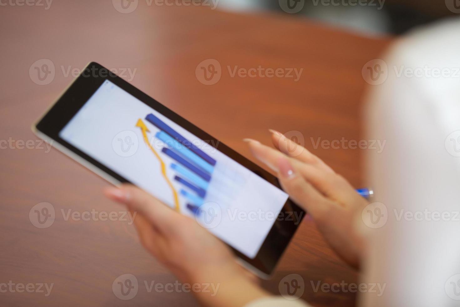 touchpad de negocios foto