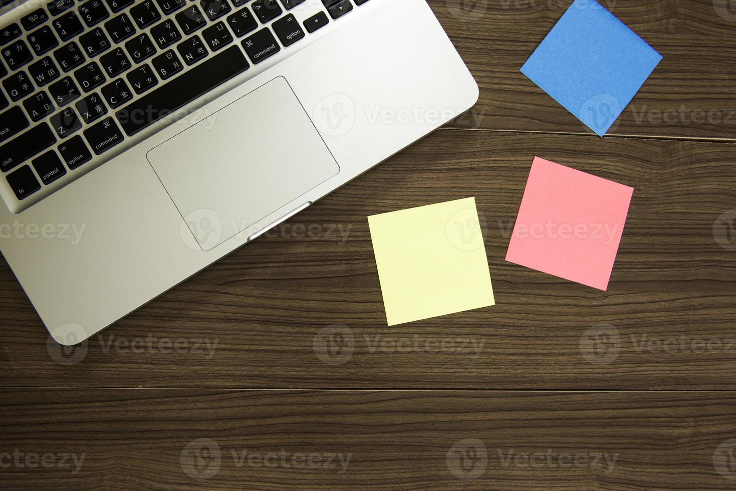 Office desk mock up template photo