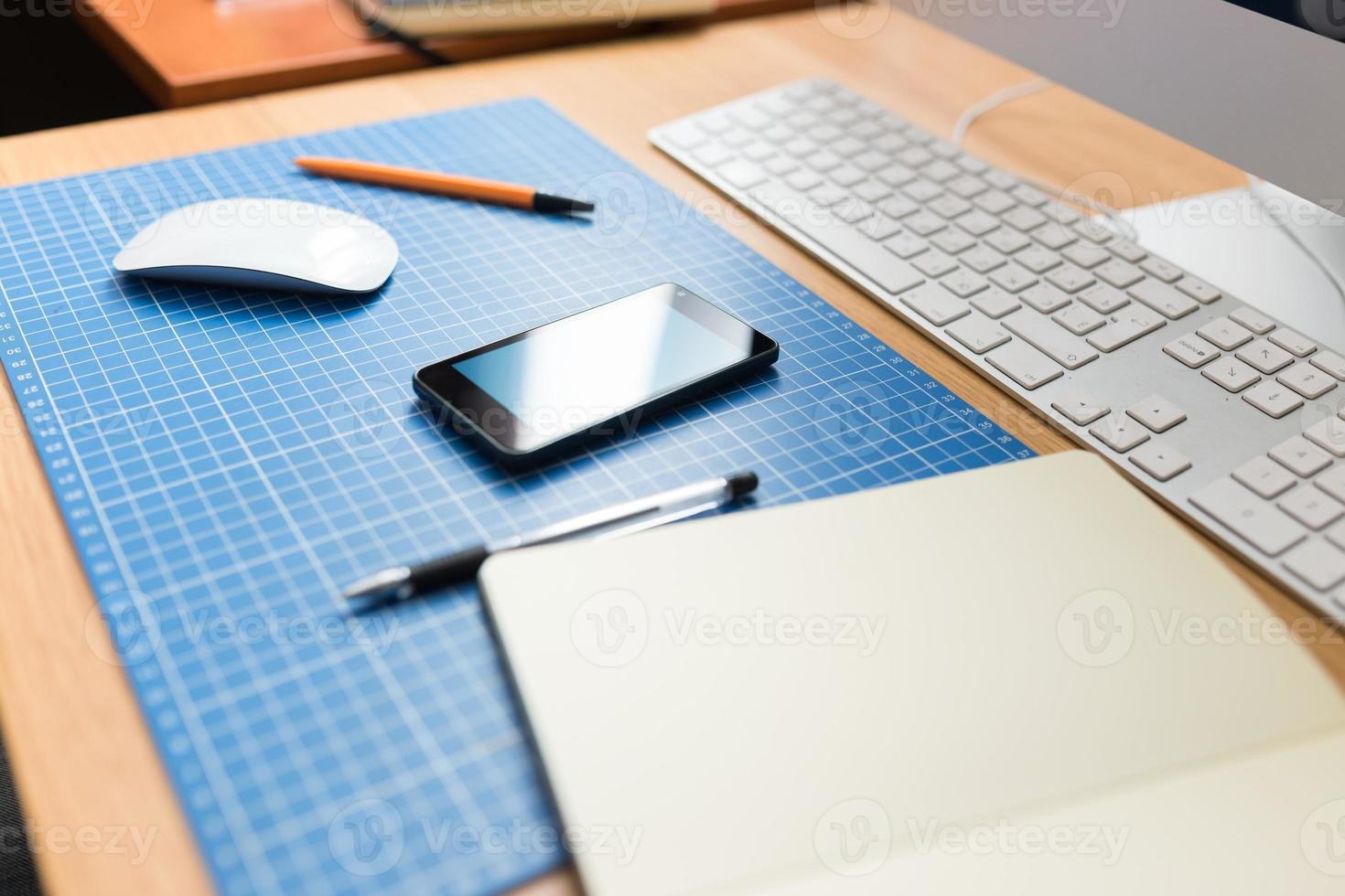 Workplace web designer or developer. photo