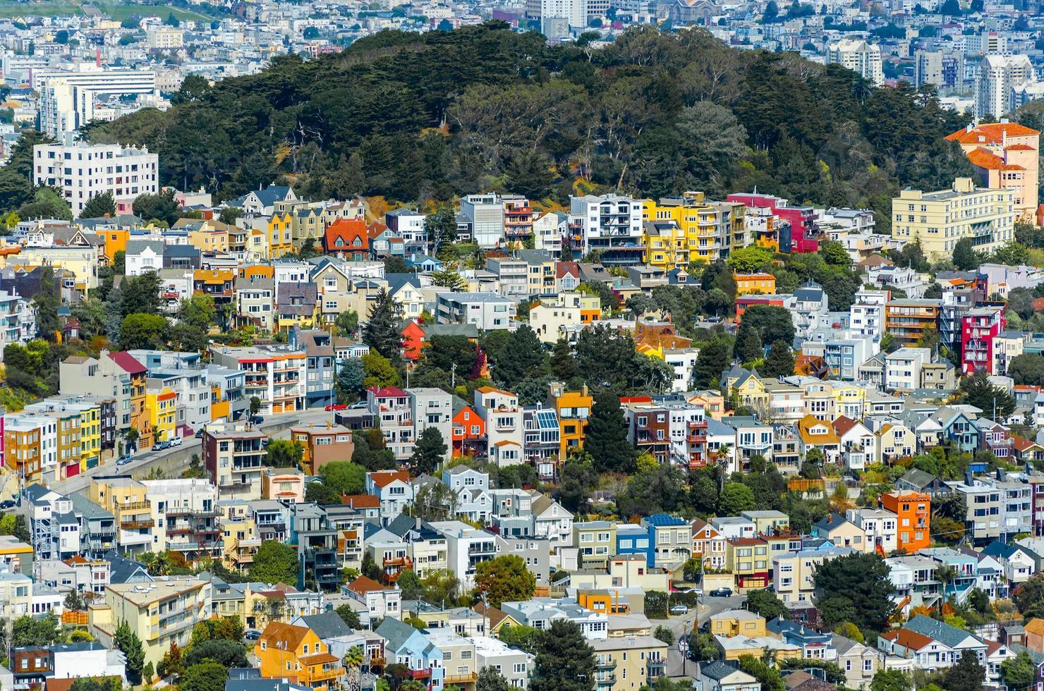 Beautiful houses in San Francisco photo