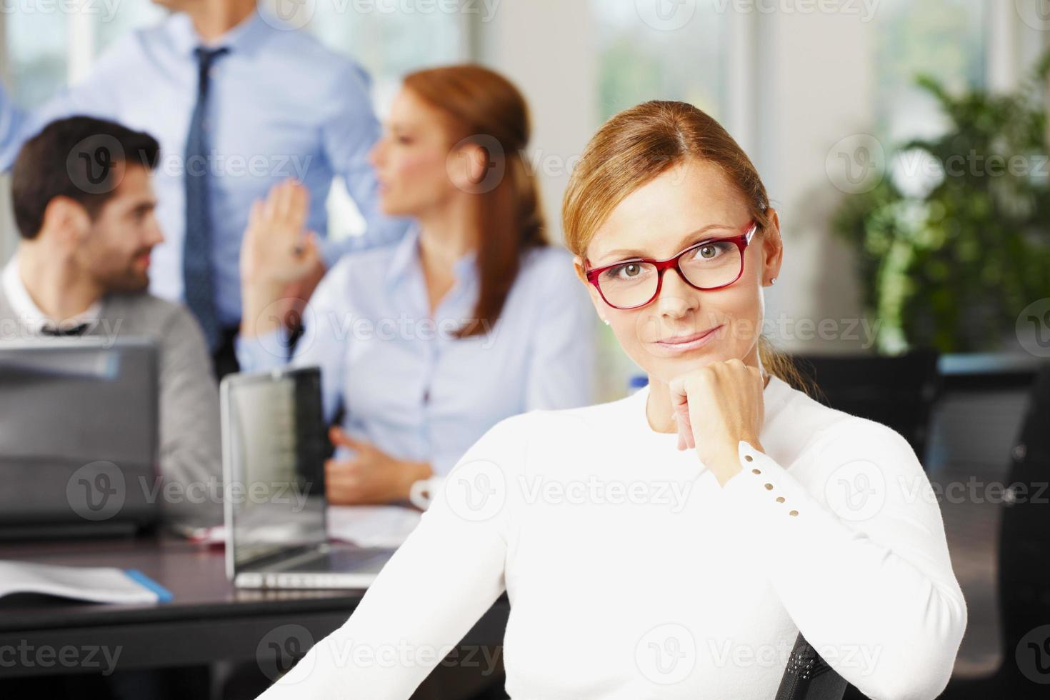 Mature business woman portrait photo
