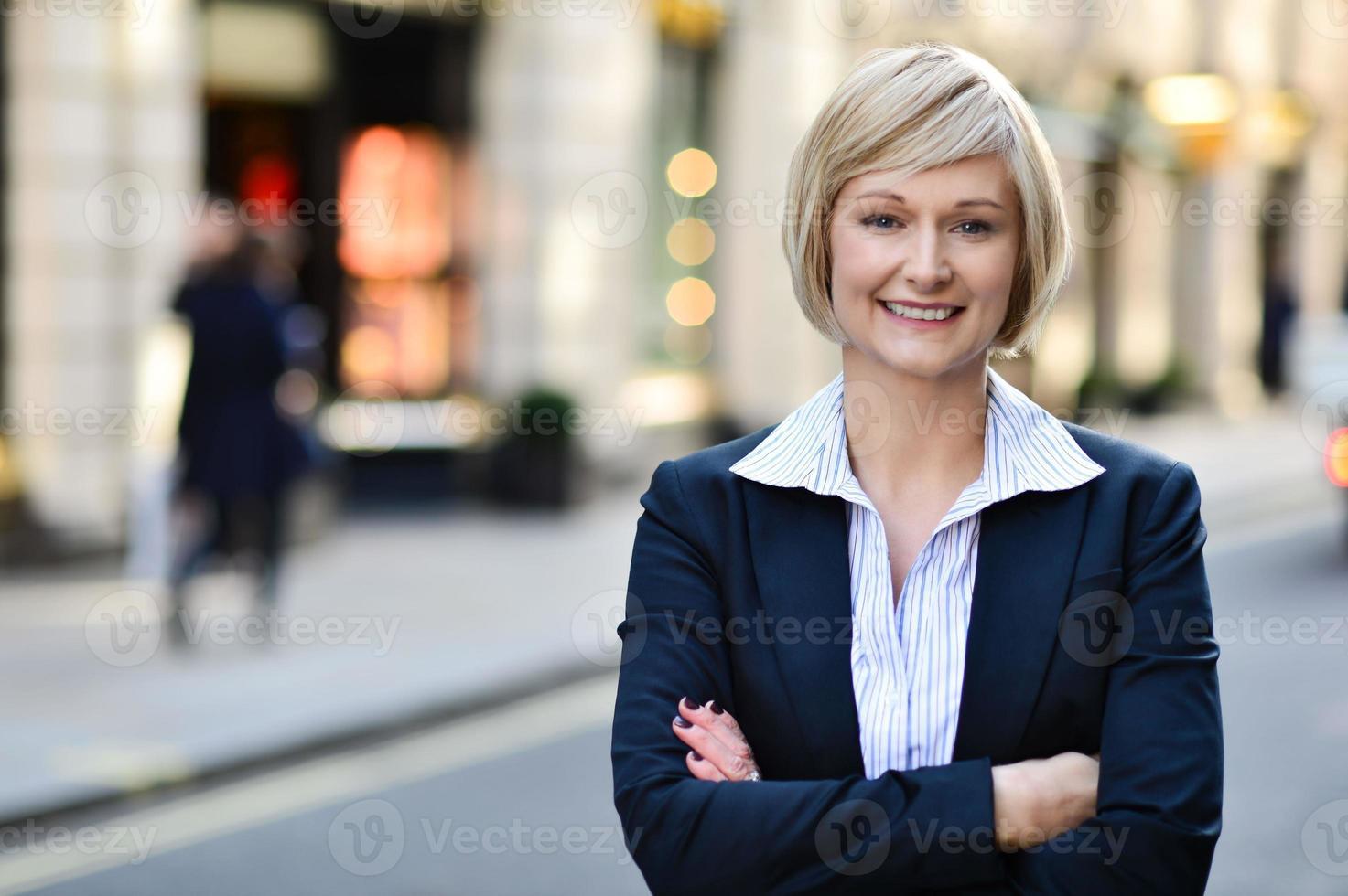 Confident business woman portrait photo