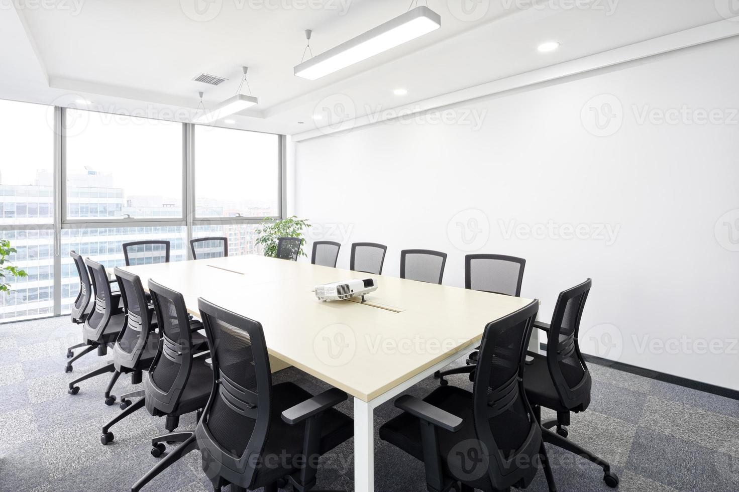 interior of meeting room in moder office photo
