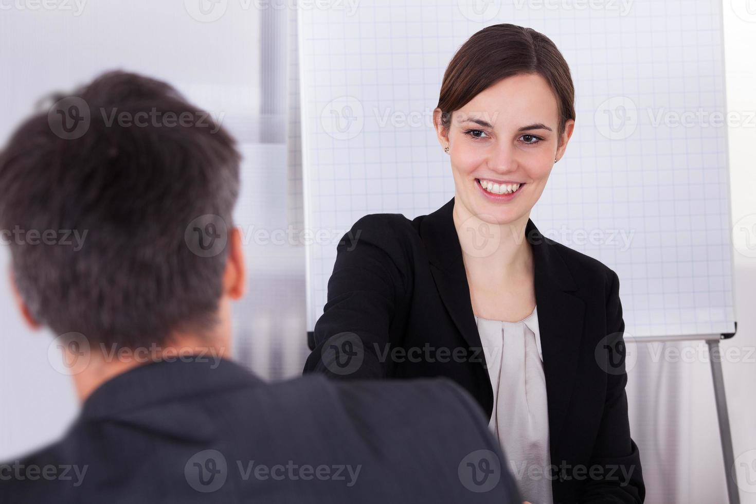 Happy Young Businesswoman photo