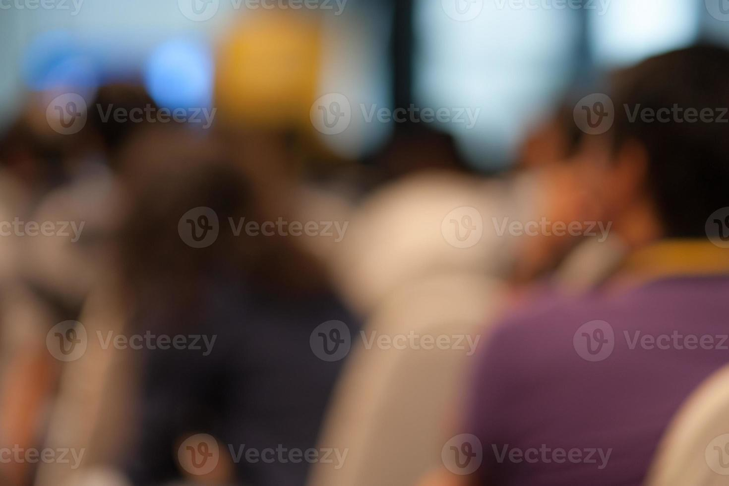 Abstract Blurred people background in meeting room. photo