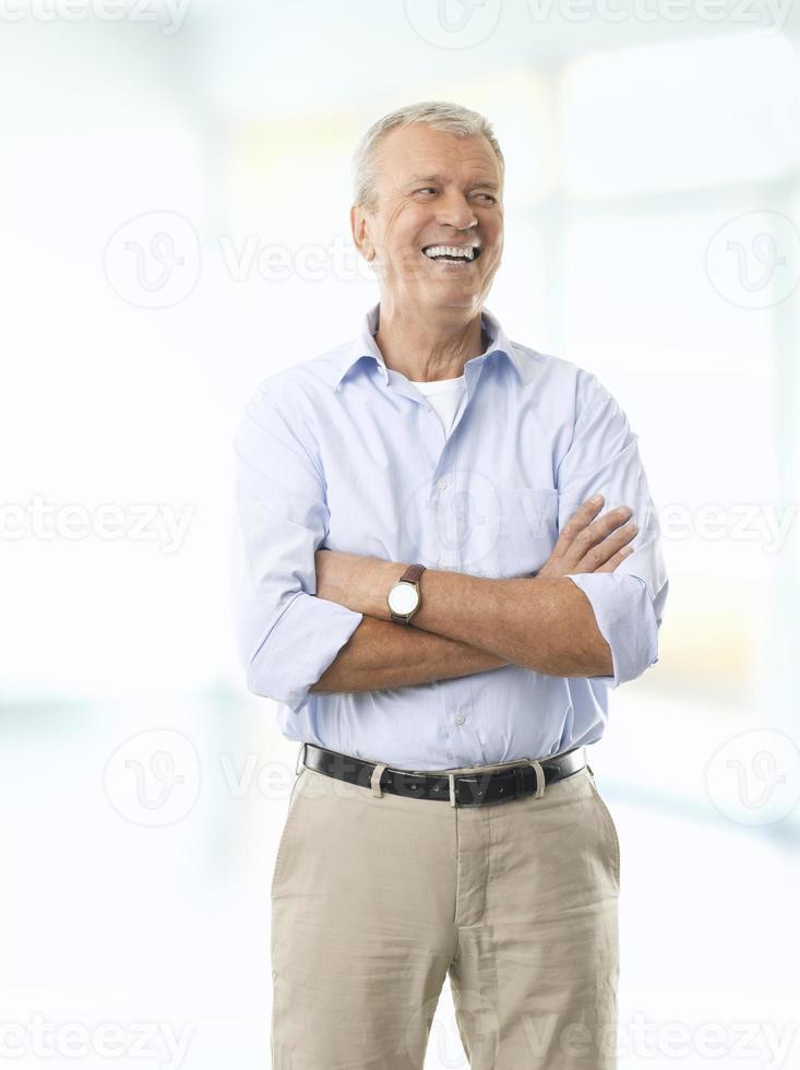 Old businessman portrait photo