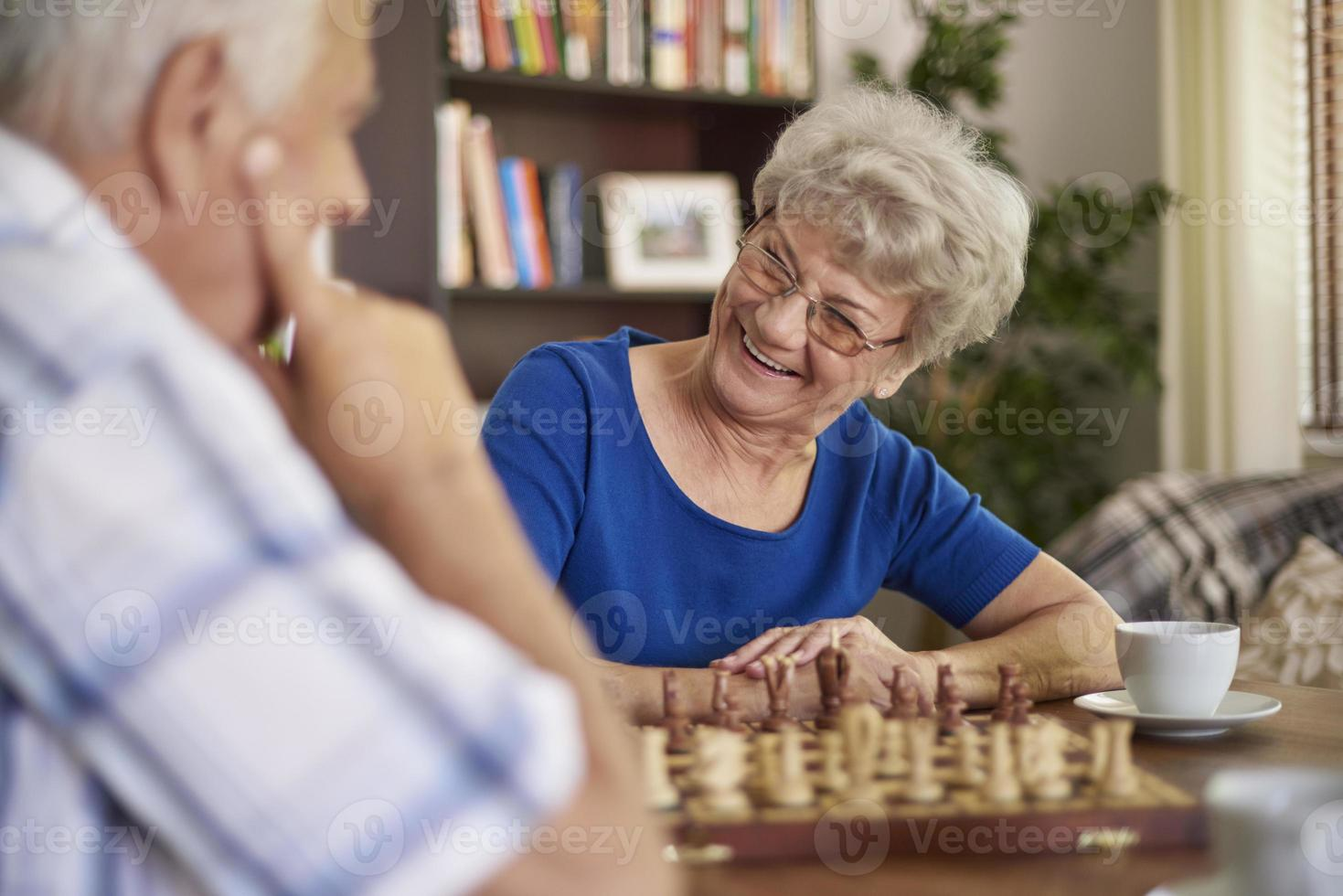 Playing chess is a good way of relaxation photo