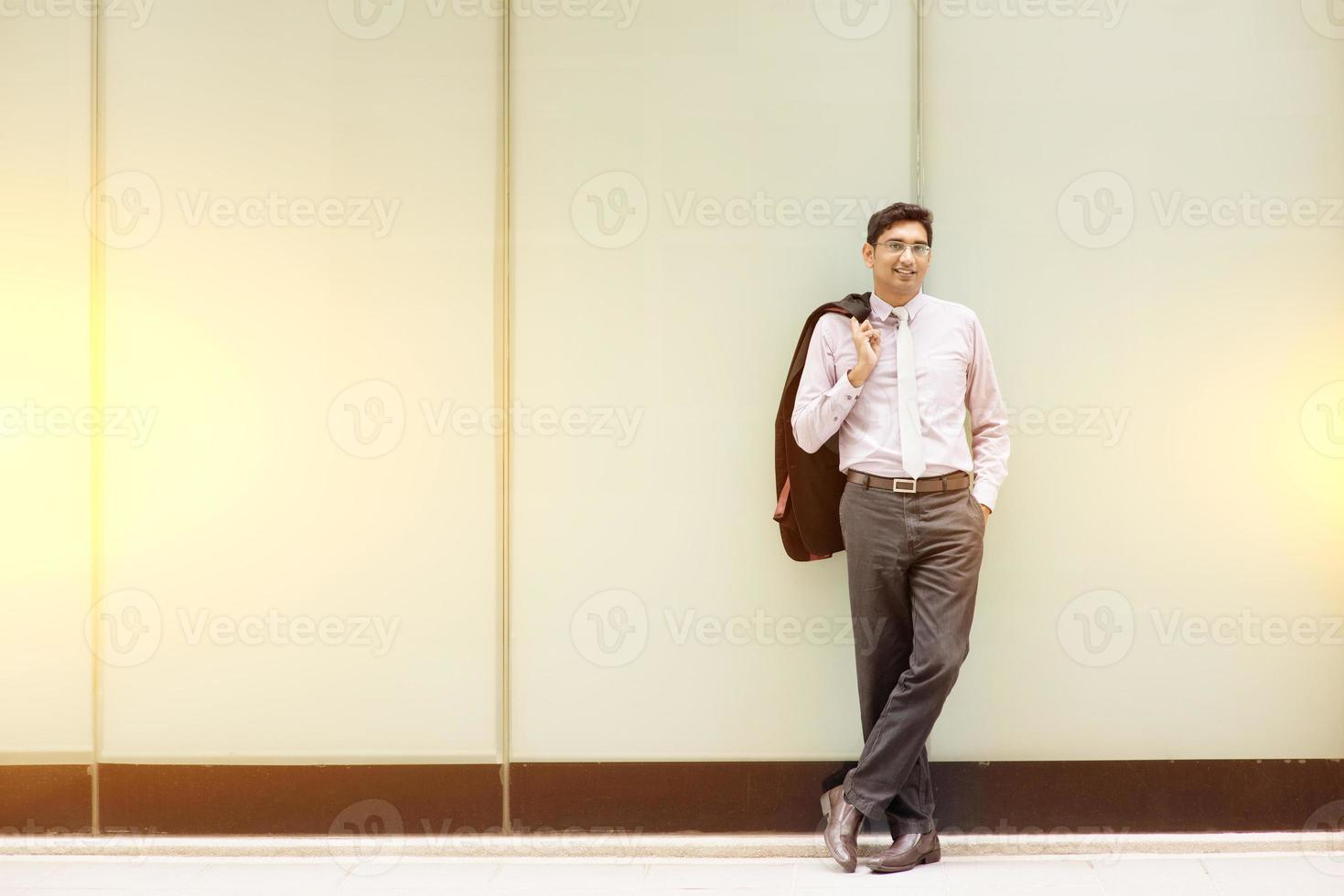 Asian Indian business people full length photo
