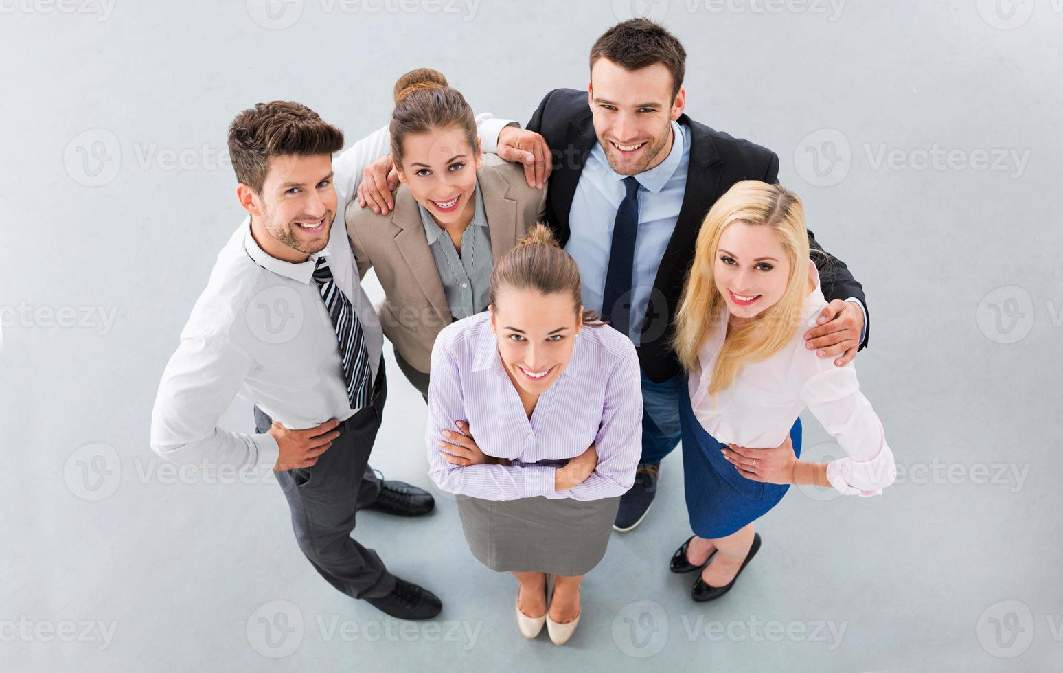 High angle of business people photo