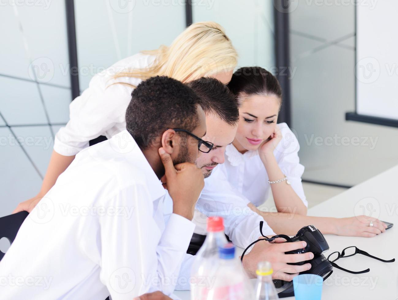 Middle eastern people having a business meeting at office photo