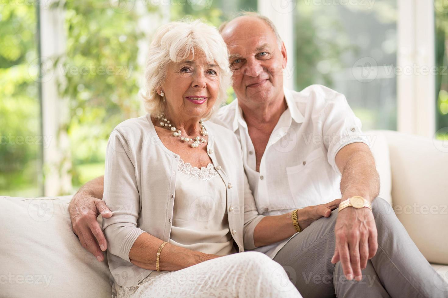 Amorous senior couple photo