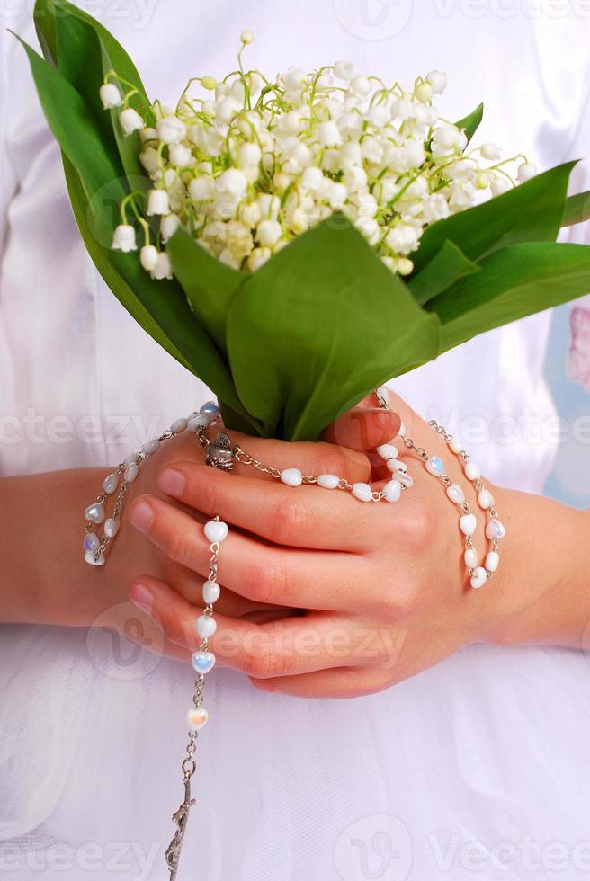 lily of the valley bunch for first holy communion photo