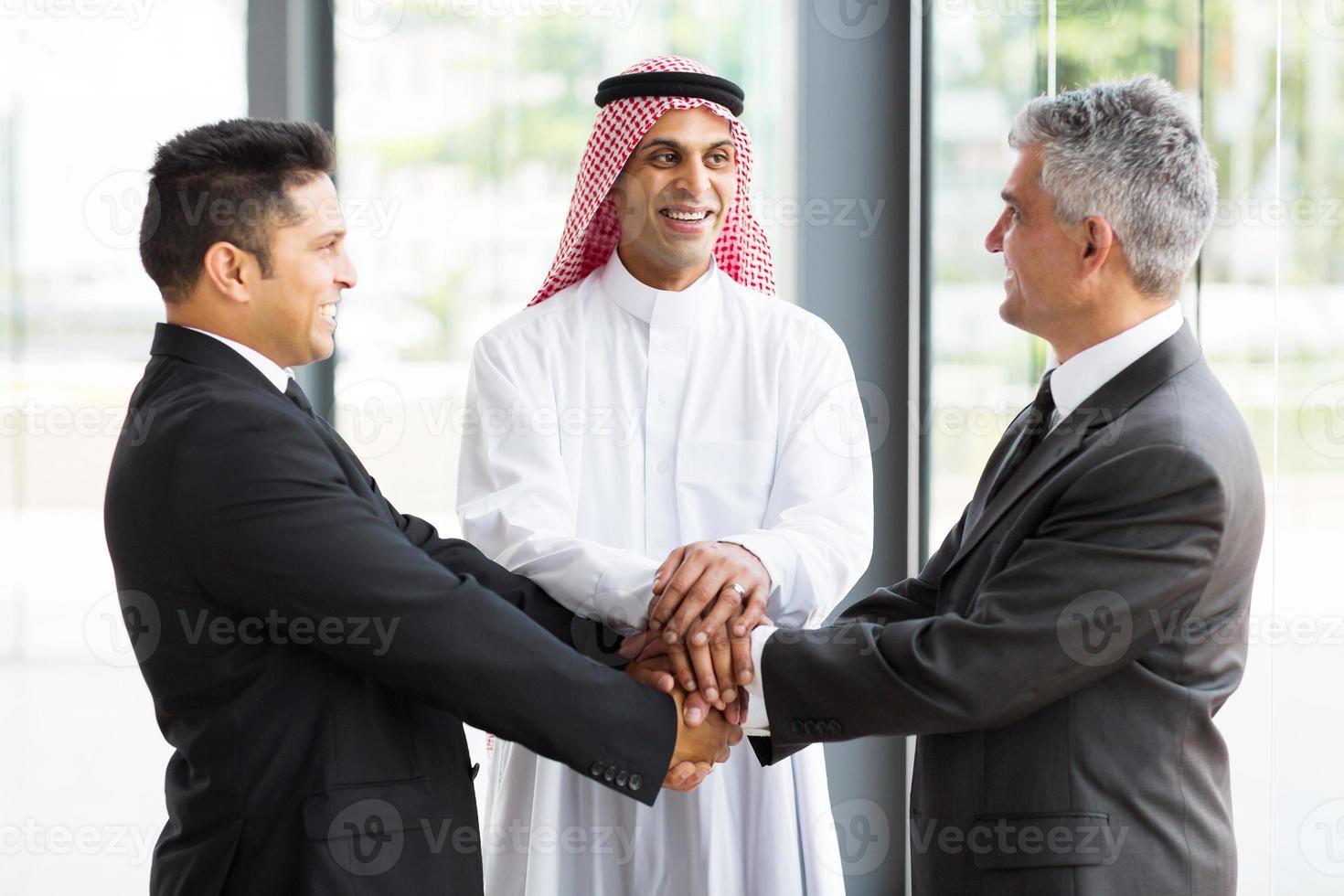 equipe de negócios globais foto