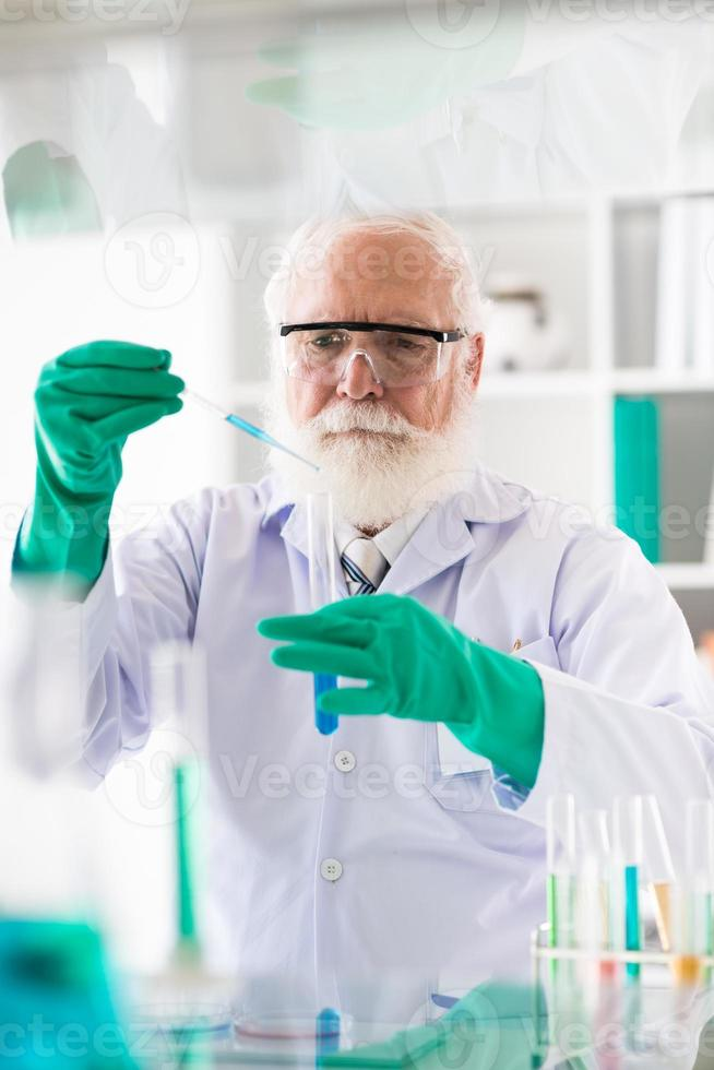 Senior medical scientific researcher photo