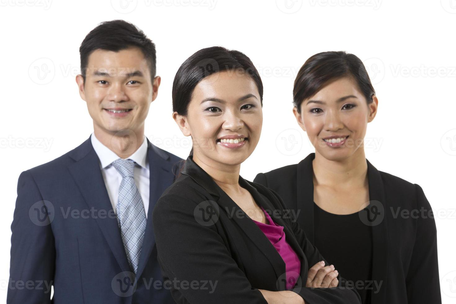 Group of Asian business people. photo