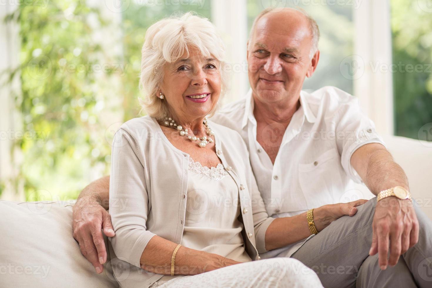 Beauty senior couple photo