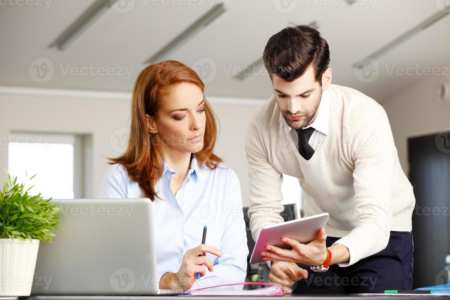 Teamwork at office photo