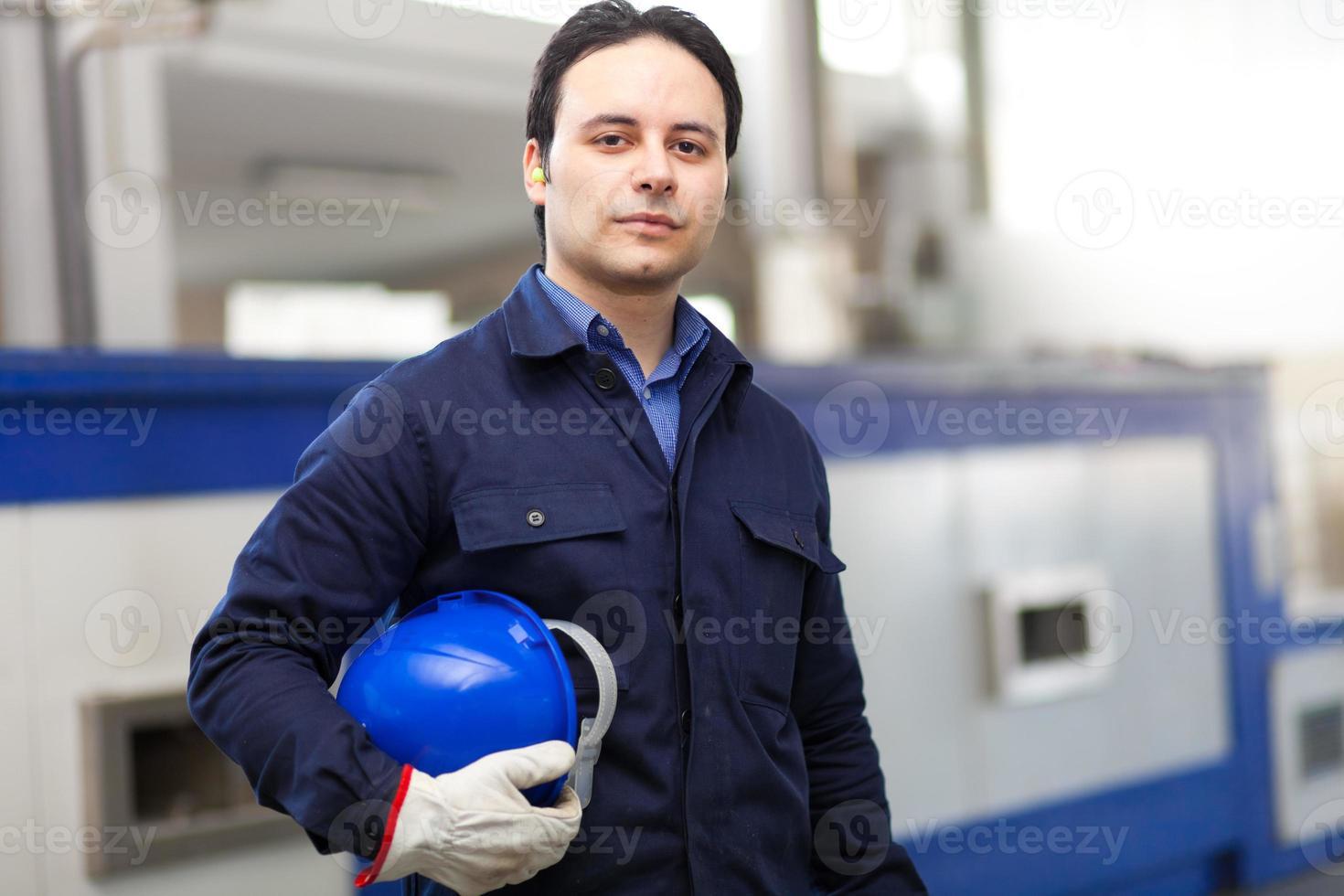 retrato de trabajador foto