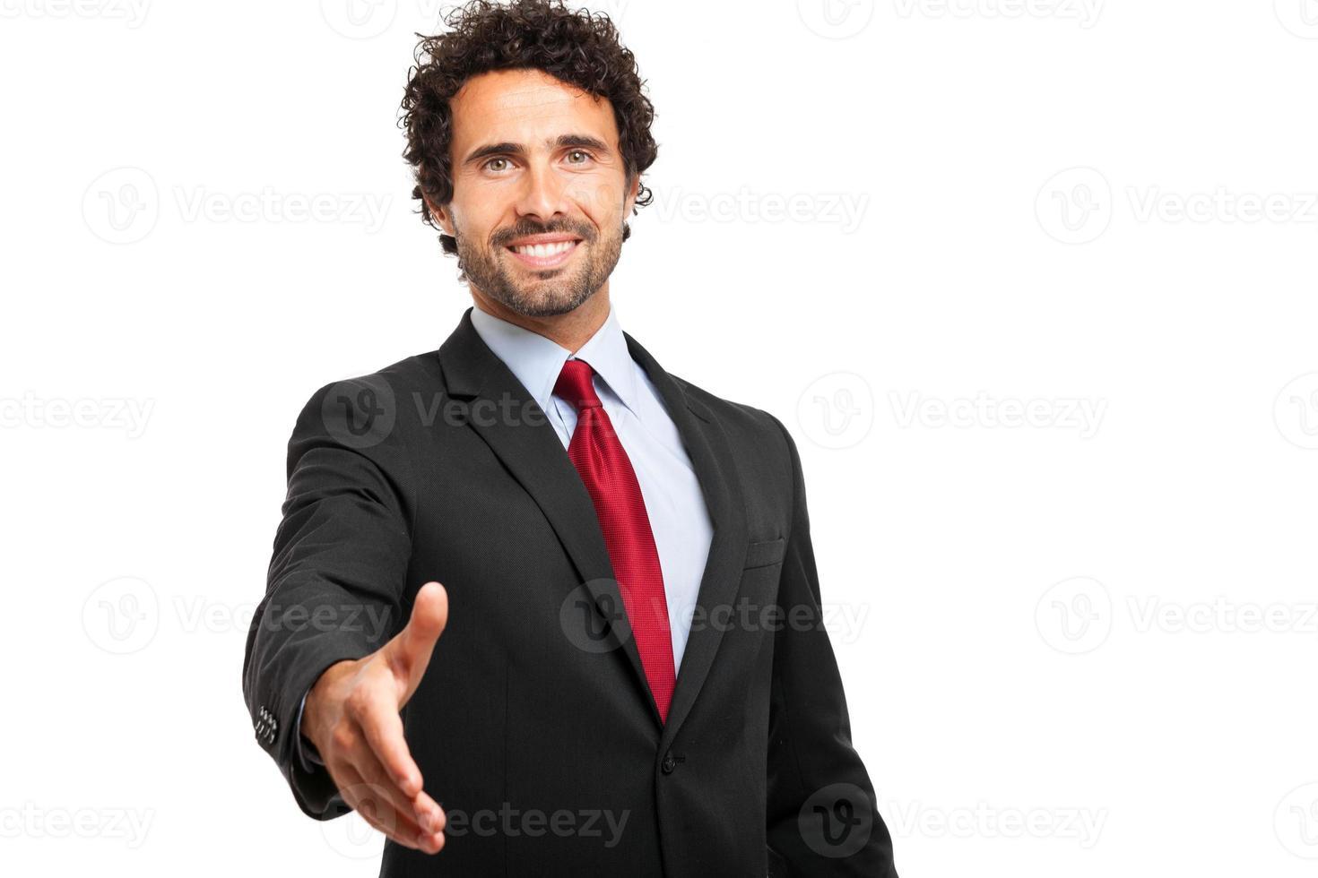 empresario dando su mano foto