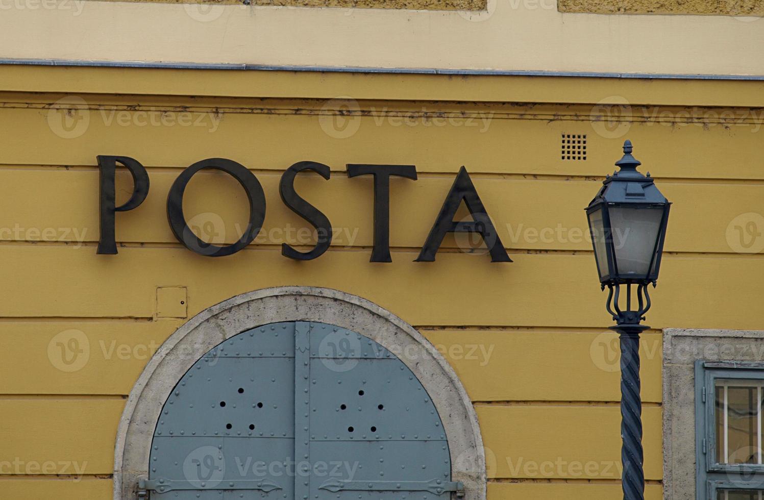 oficina de correos de budapest foto