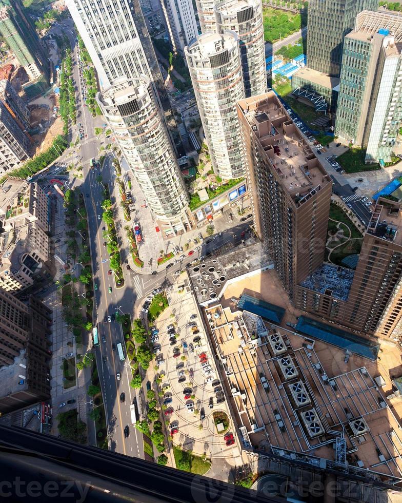 Shangai Lujiazui horizonte de la zona financiera y comercial foto