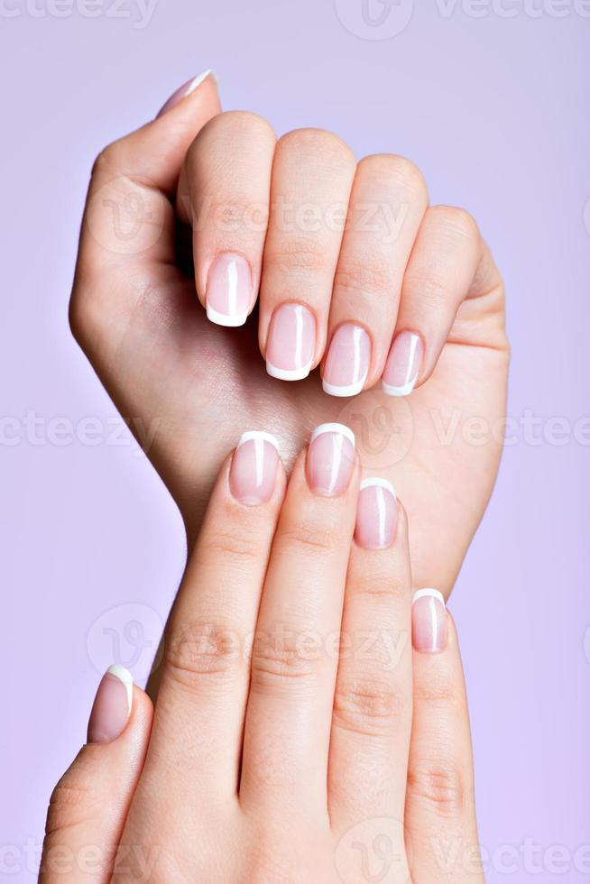 Beautiful woman's hands with beautiful  nails photo