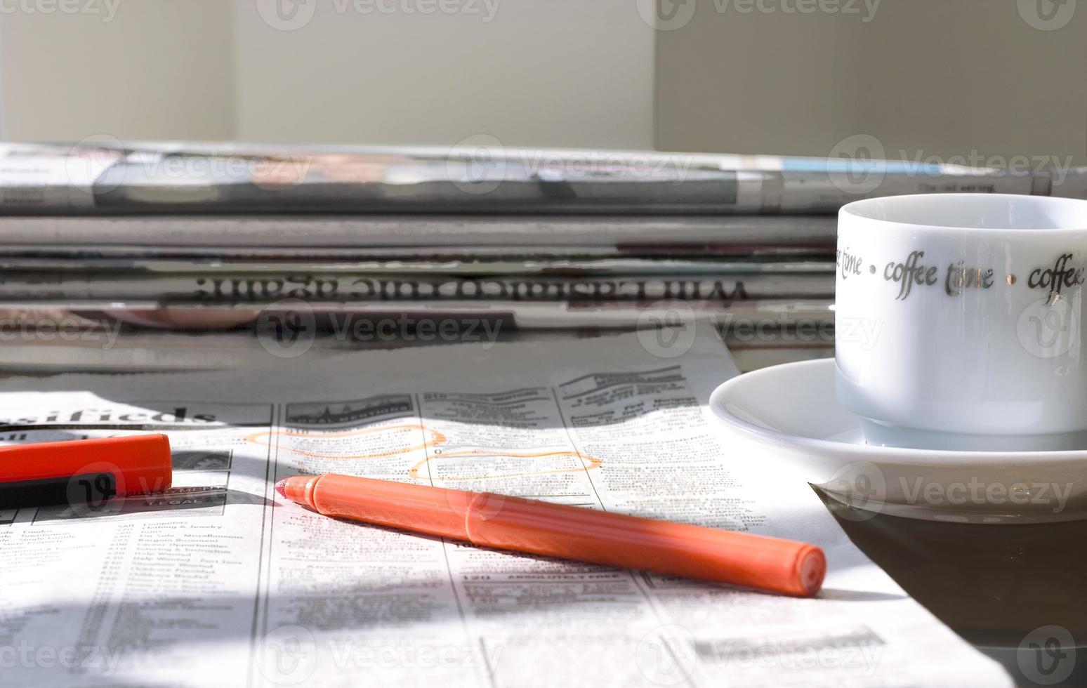 periódicos de la mañana foto