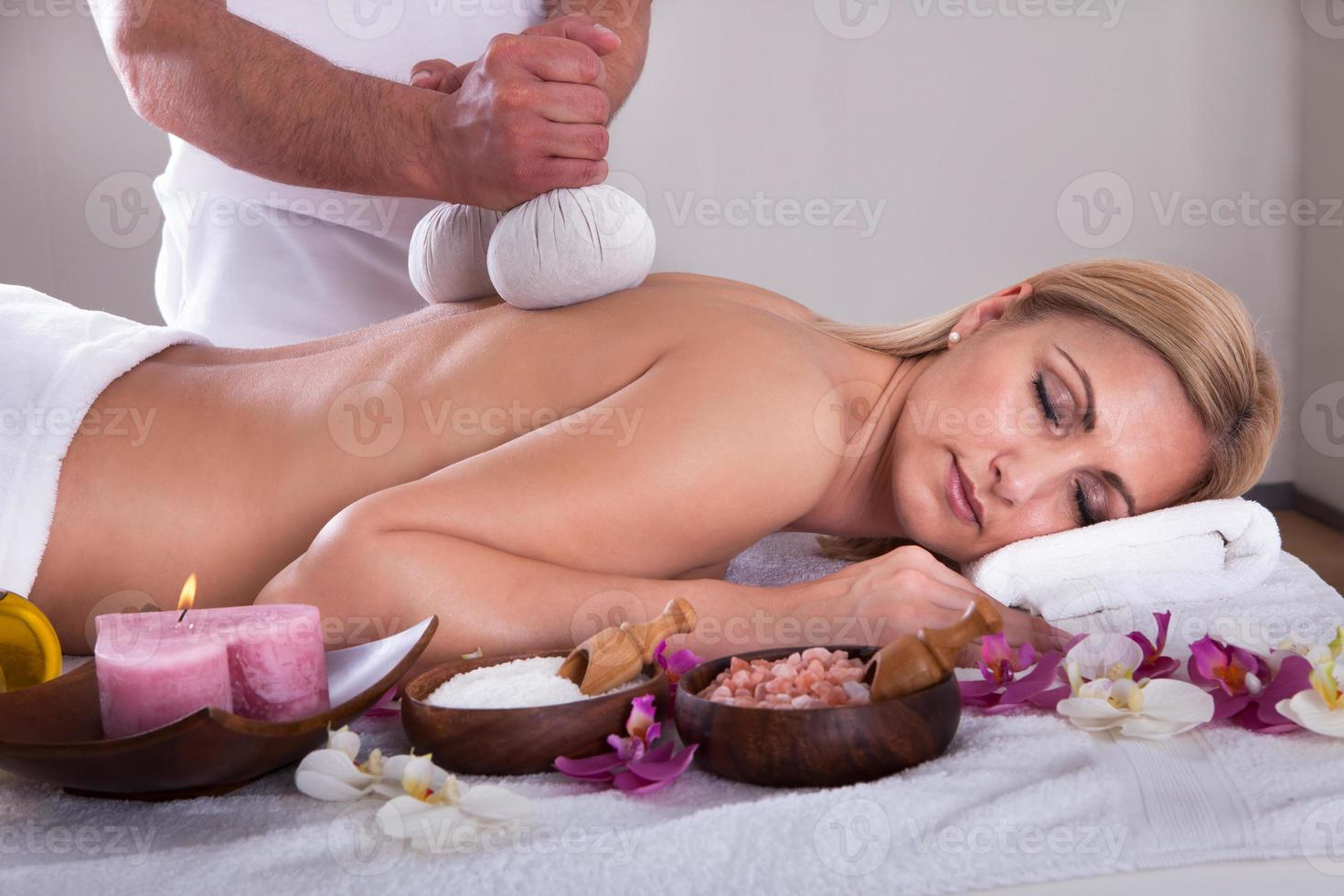 Young Woman Getting Spa Treatment photo