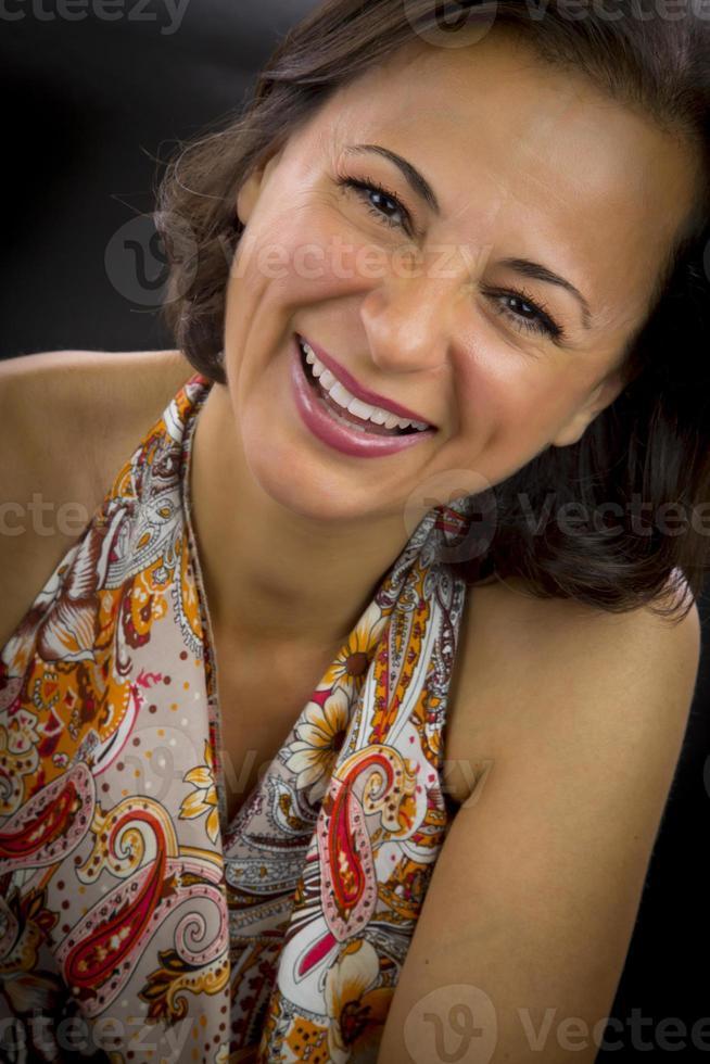 Portrait of beautiful woman photo