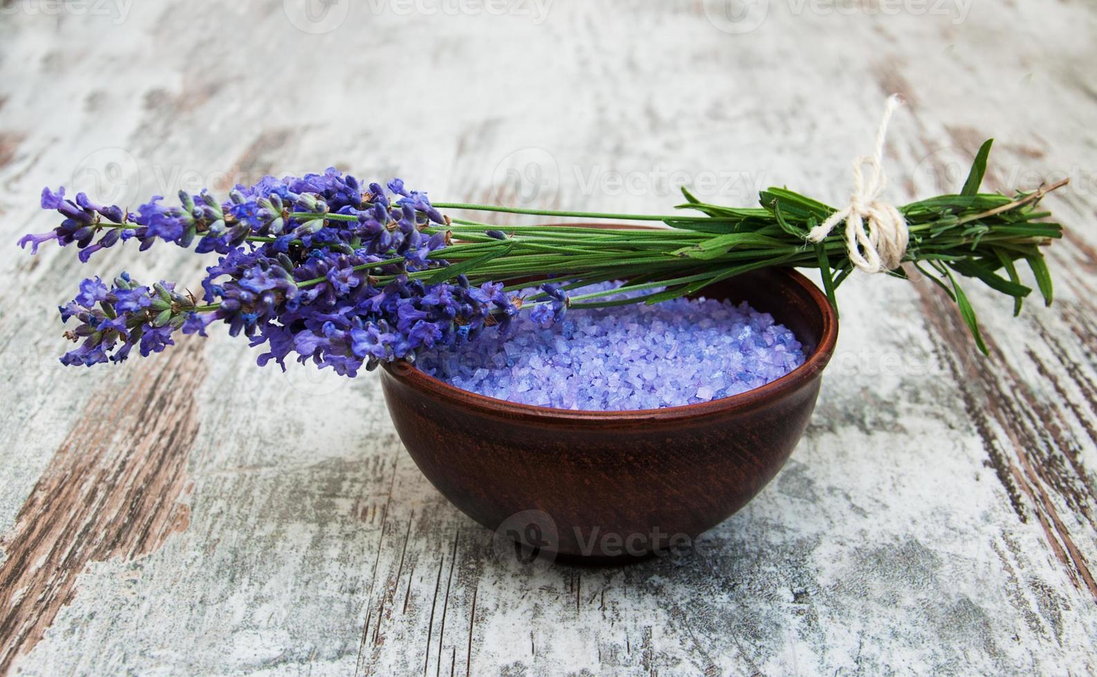 Lavender and salt photo