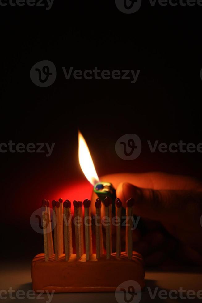 match fire burning photo