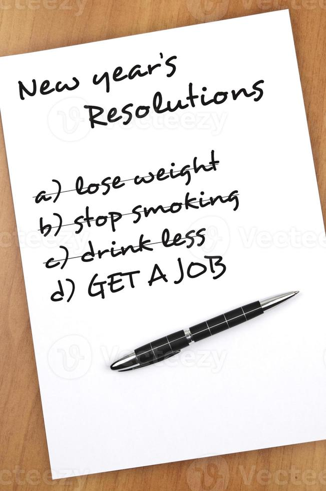 New year resolutions photo