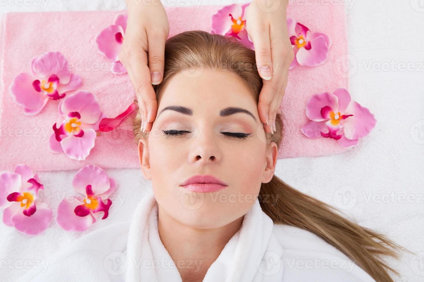 Young Woman Getting Massage photo