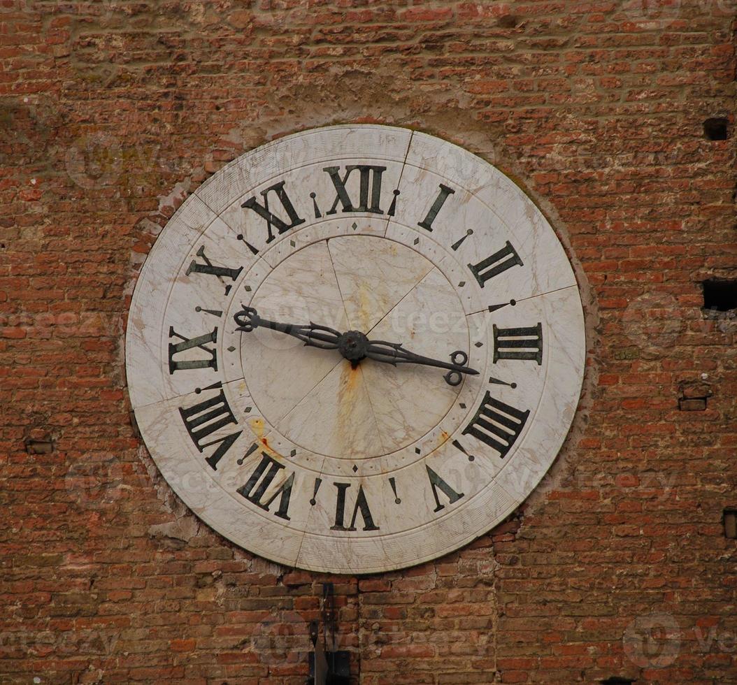 cara del reloj en la pared foto