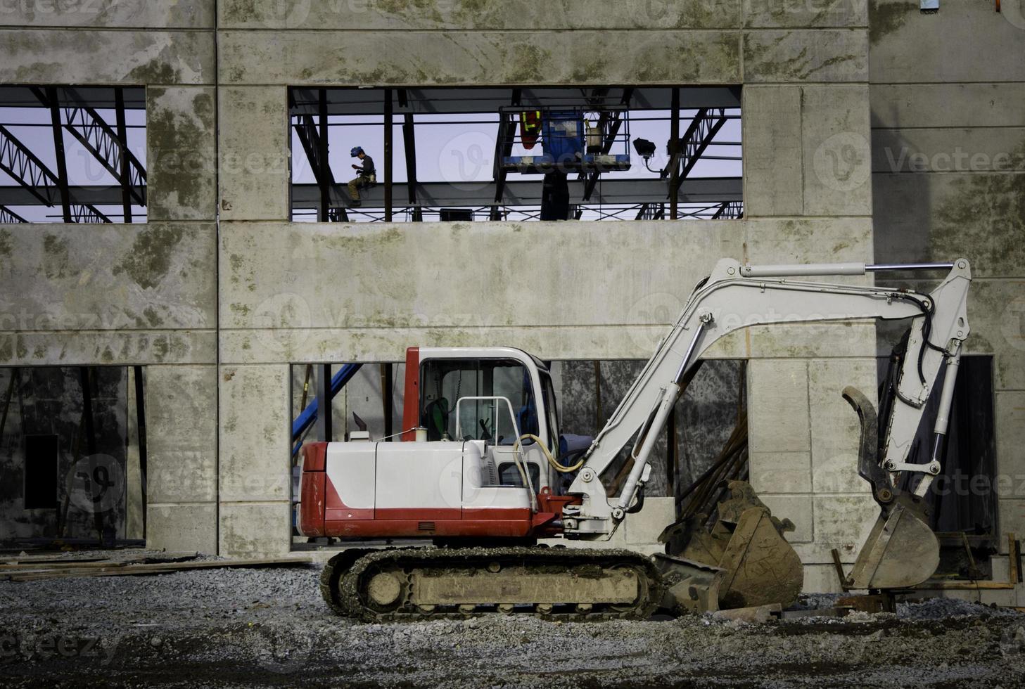 Parked Excavator photo