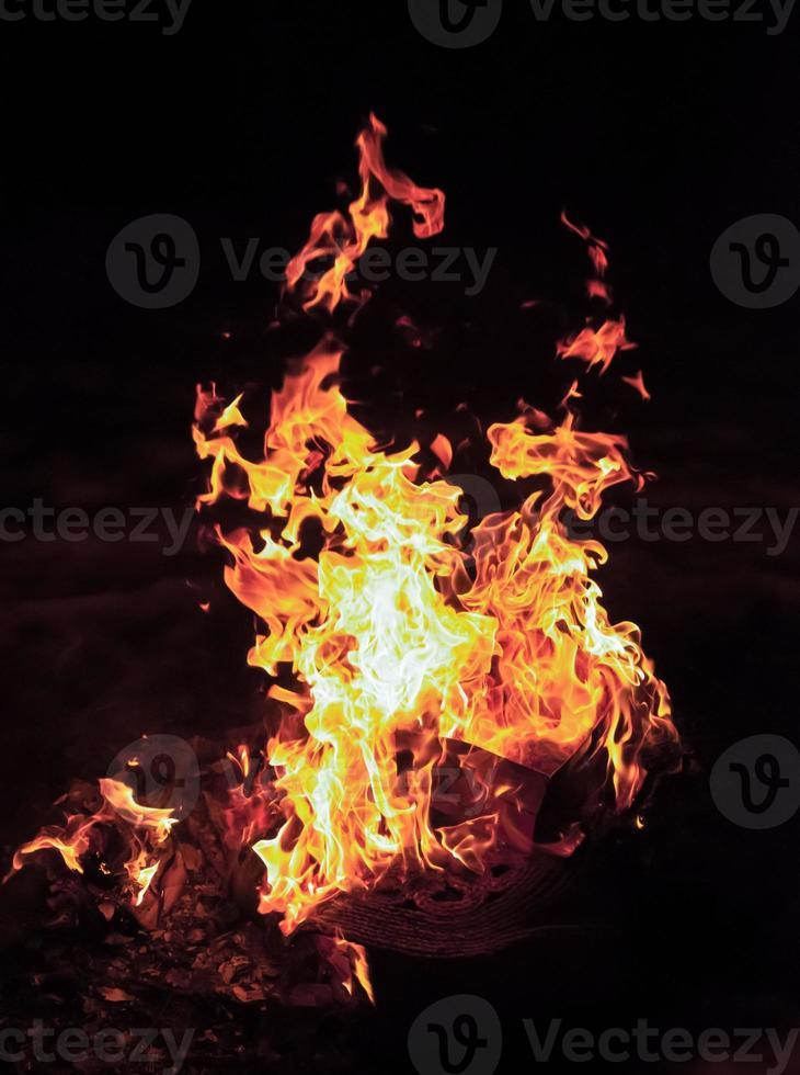 fuego ardiente foto