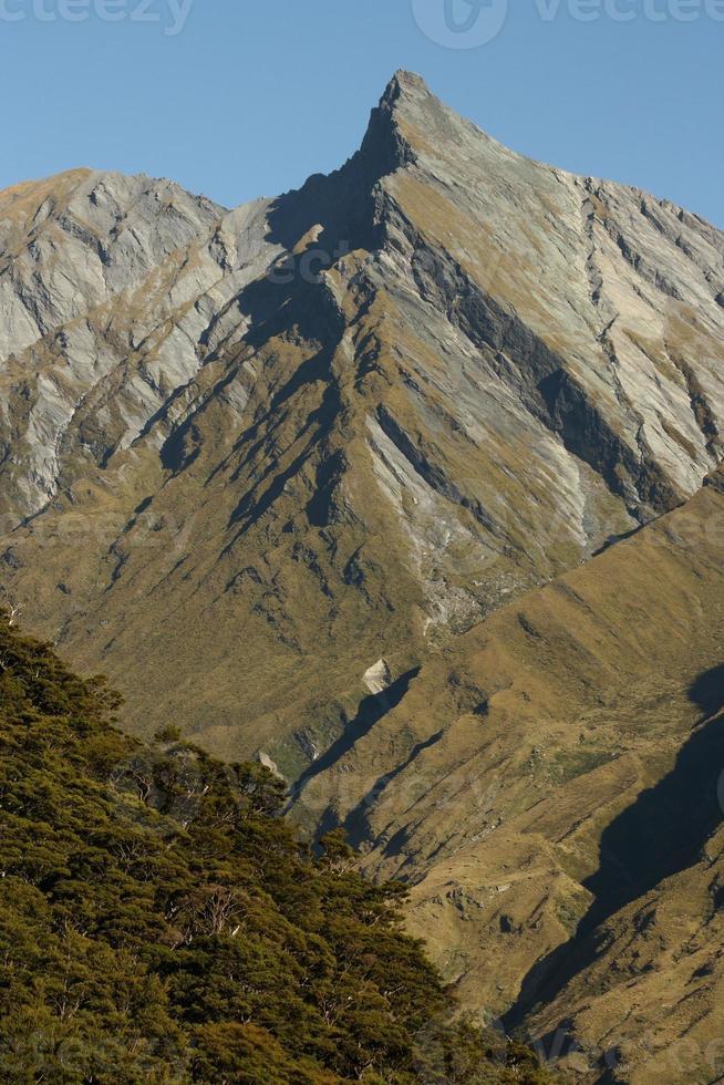 barren slopes in Mount Aspiring National Park photo