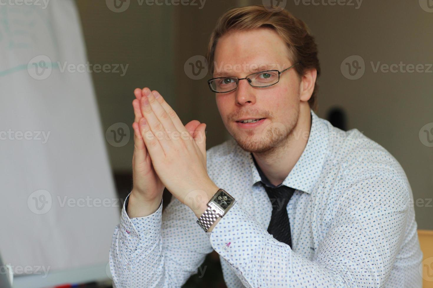 Business man managing photo