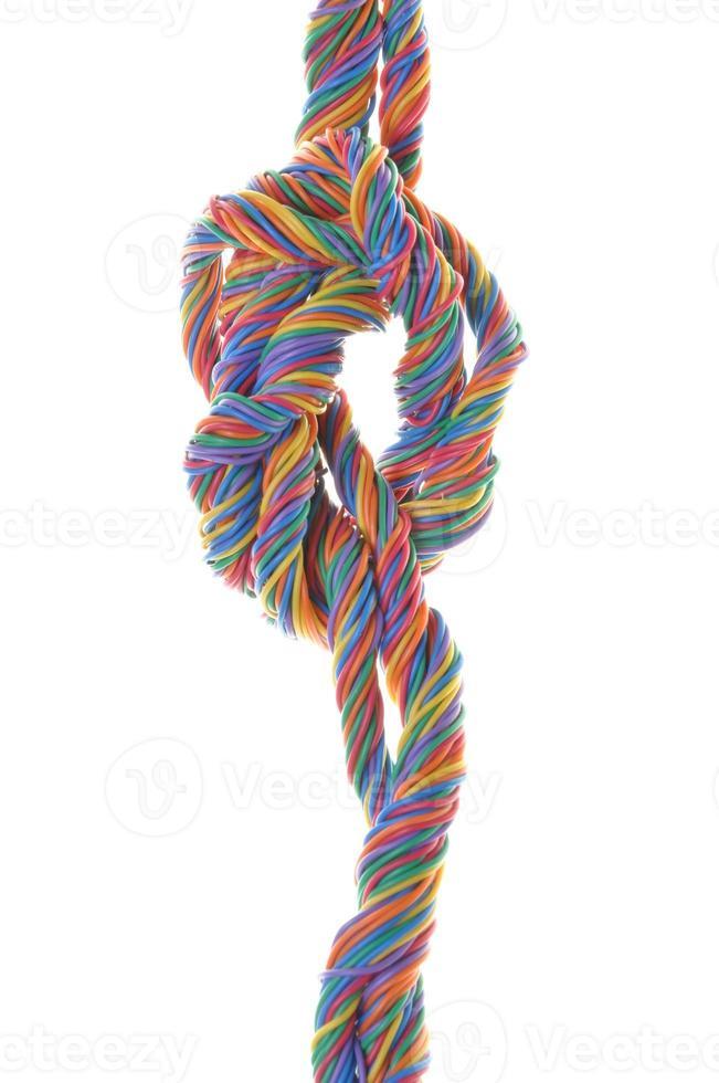 Multicolored network computer cables photo
