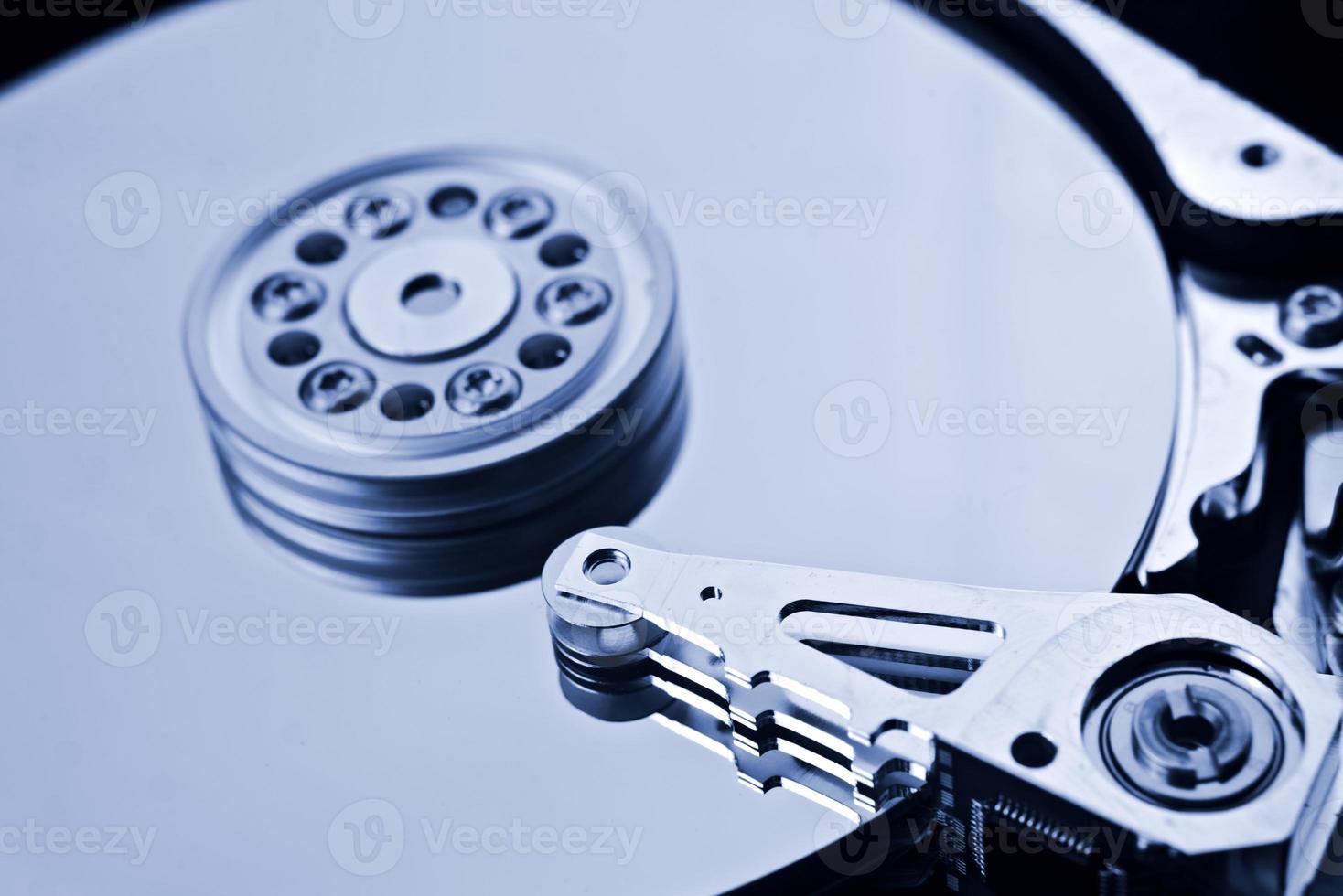 disco duro de la computadora de cerca los detalles foto