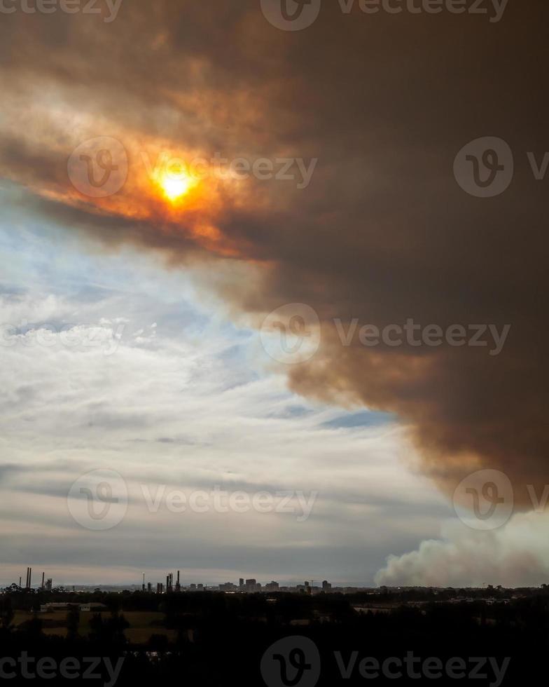 Bushfire Smoke and Sun over Parramatta photo