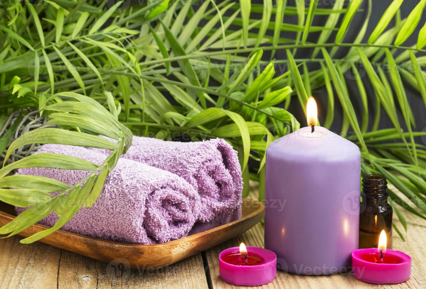 Spa.Scented Candles, Essential Oil and Towels photo