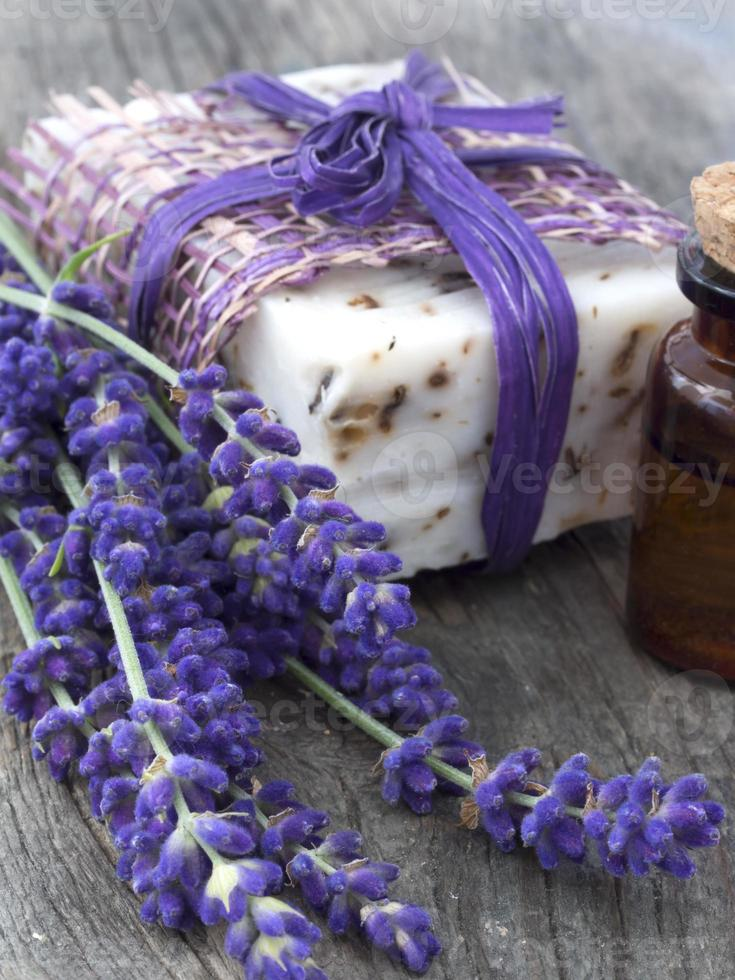 lavender oil and soap photo
