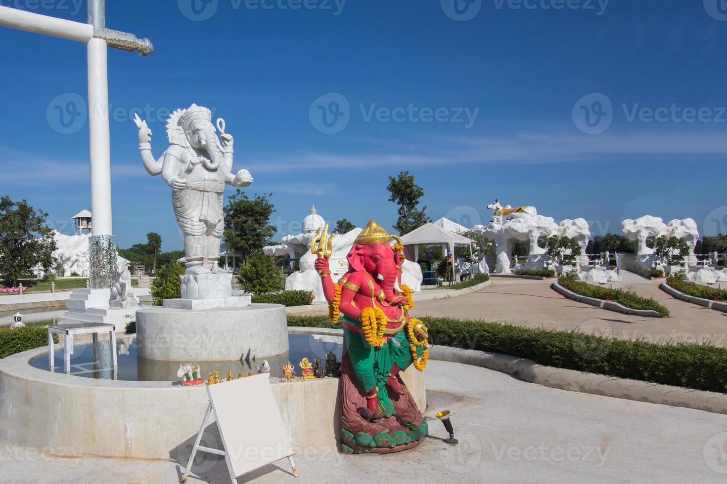 estatua de Ganesh en la provincia de khonkaen foto