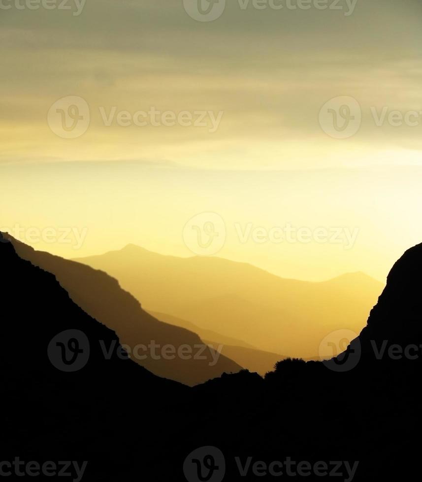 Orange mountains photo